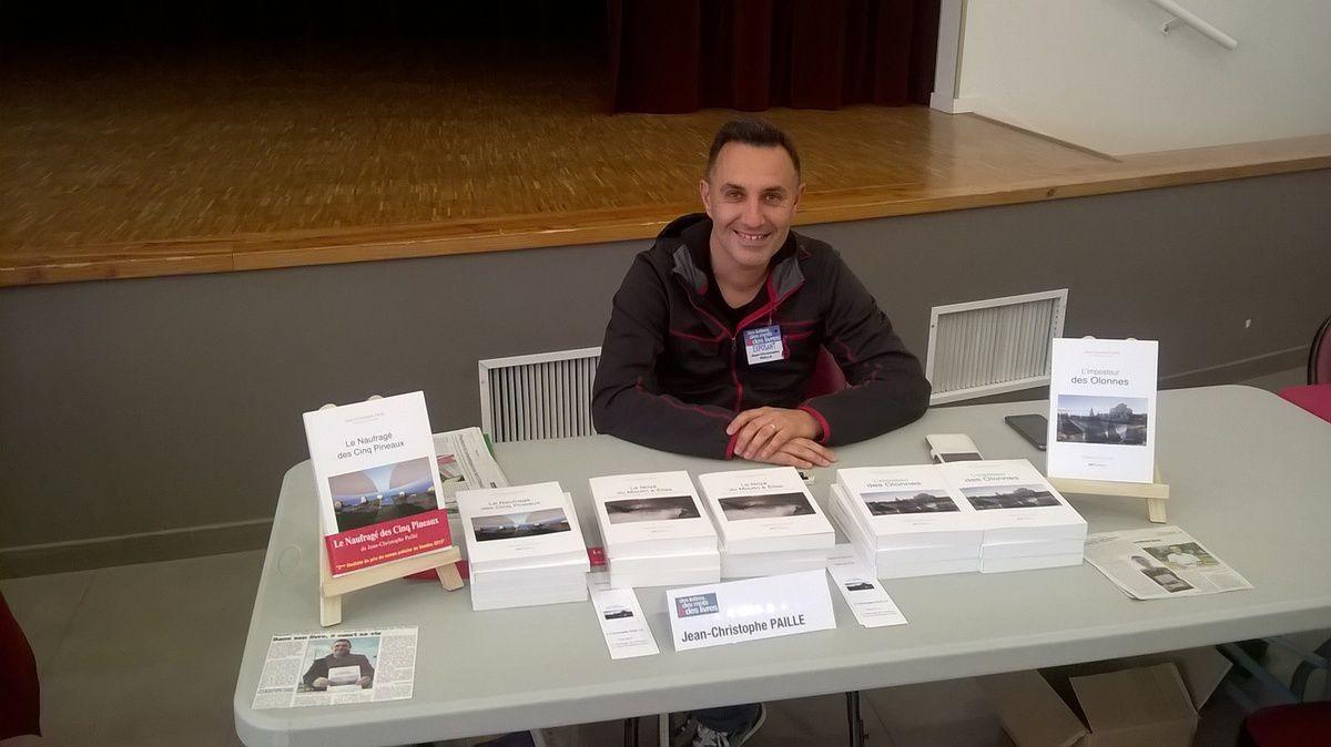Jean-Christophe Paillé lors du Salon du Livre de La Mothe Achard  au mois de mai 2017 (copyright Olivier Blochet 2017)