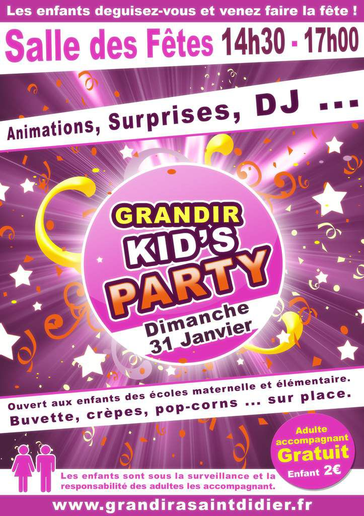 Grandir KID'S PARTY !!