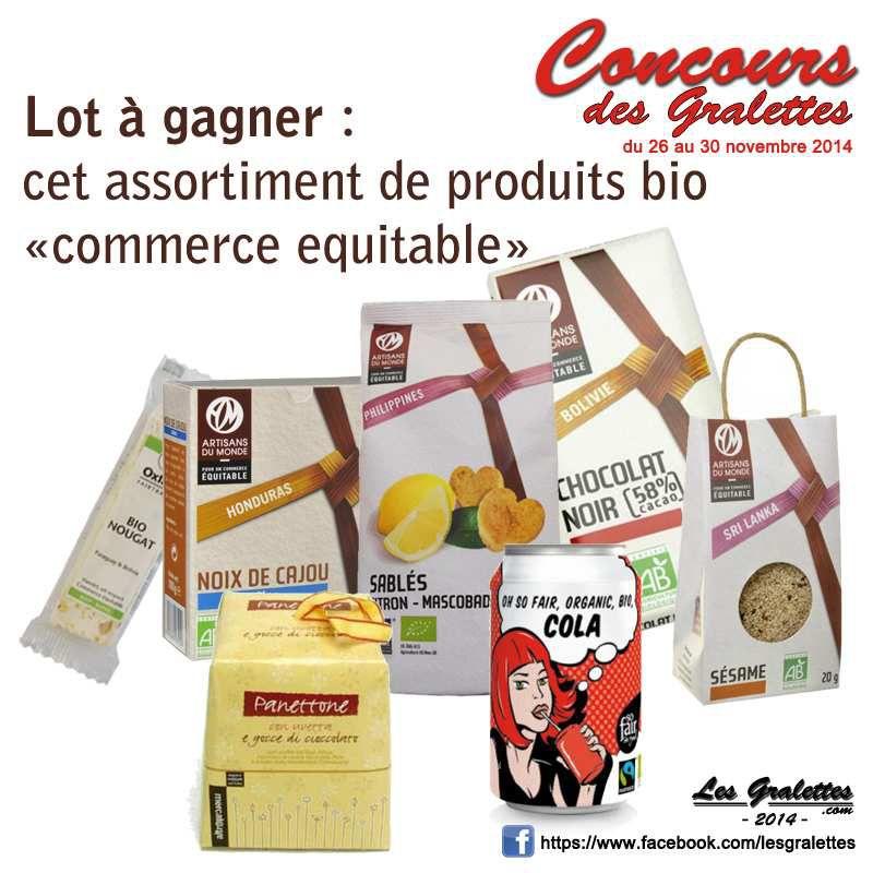 Concours : produits bio et équitables