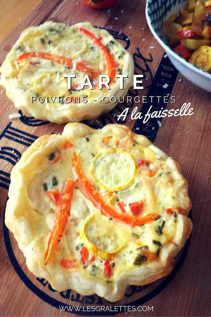 recette tarte poivrons courgettes a la faisselle les gralettes. Black Bedroom Furniture Sets. Home Design Ideas