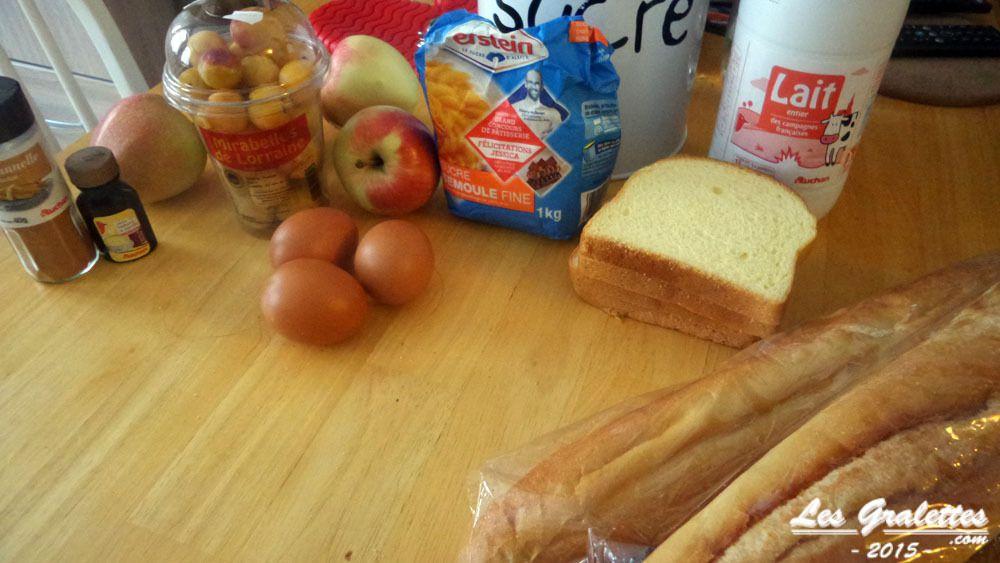 Les ingrédients du mendiant lorrain aux mirabelles