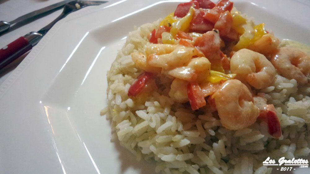 riz aux crevettes curry coco