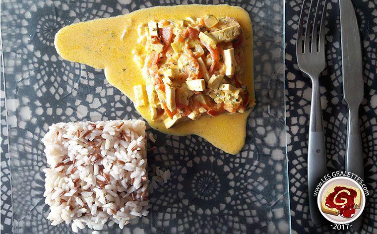 Tofu au lait de coco et curry