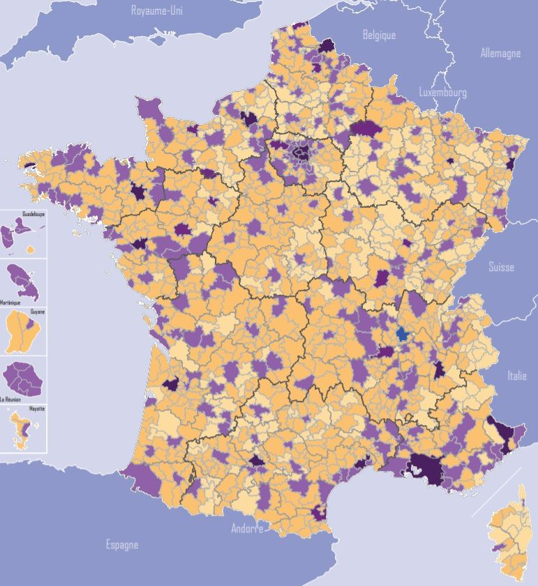 Carte de France de l'intercommunalité 2017 - source DGCL