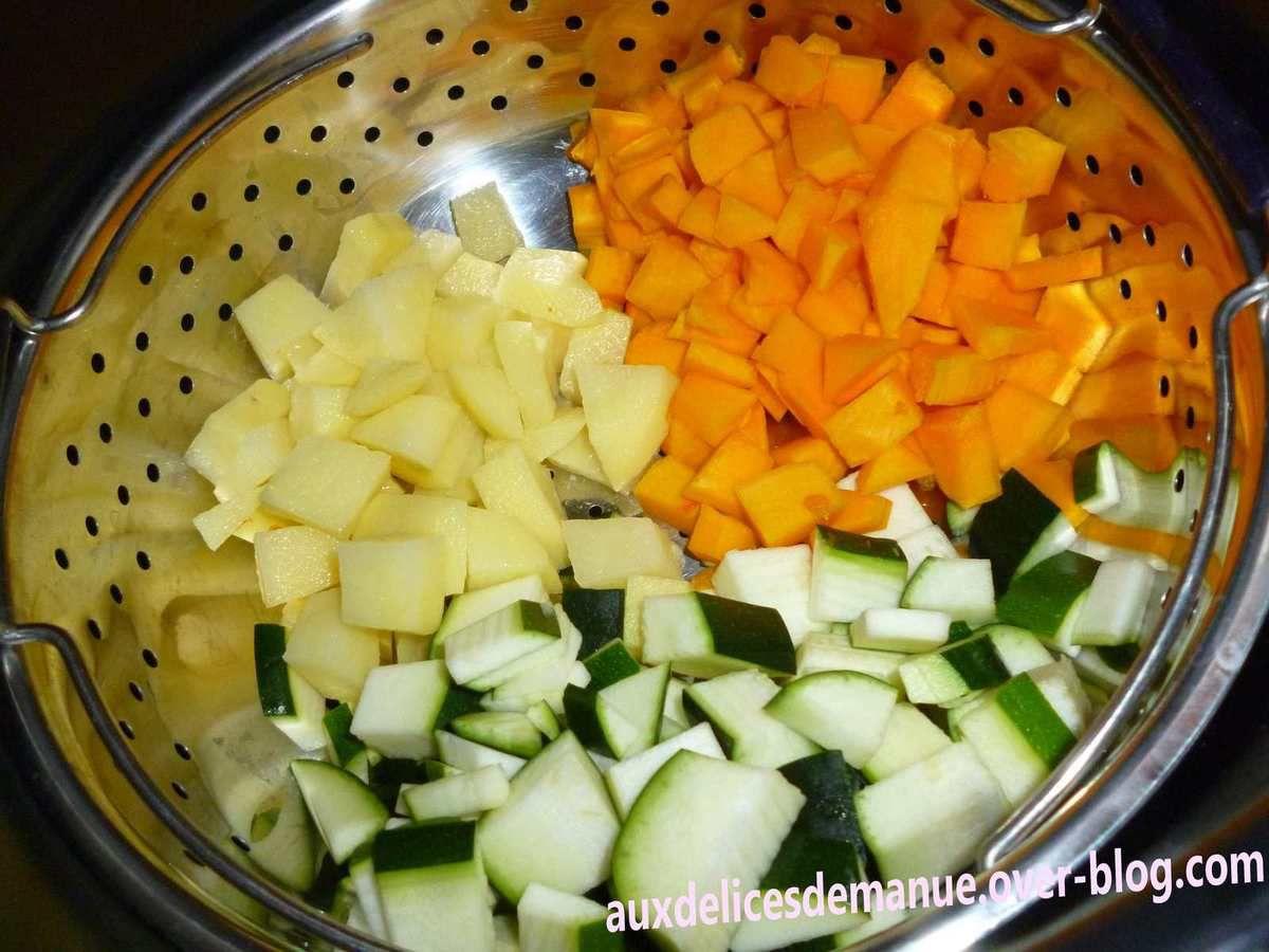timbales aux 3 légumes et jambon (dinde ou porc)