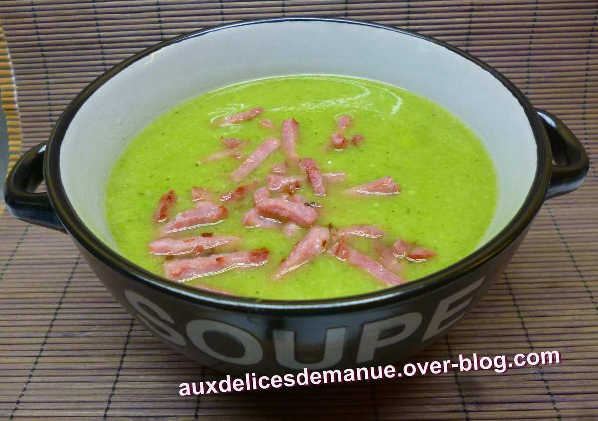 Soupe aux 3 choux haricots verts petits pois et bacon - Cuisiner haricots verts surgeles ...