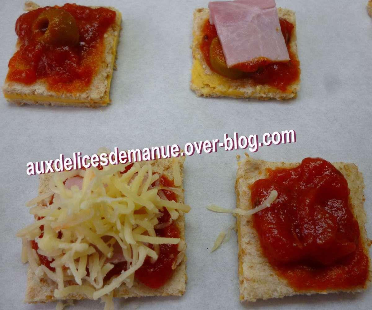 mini pizza fourrées