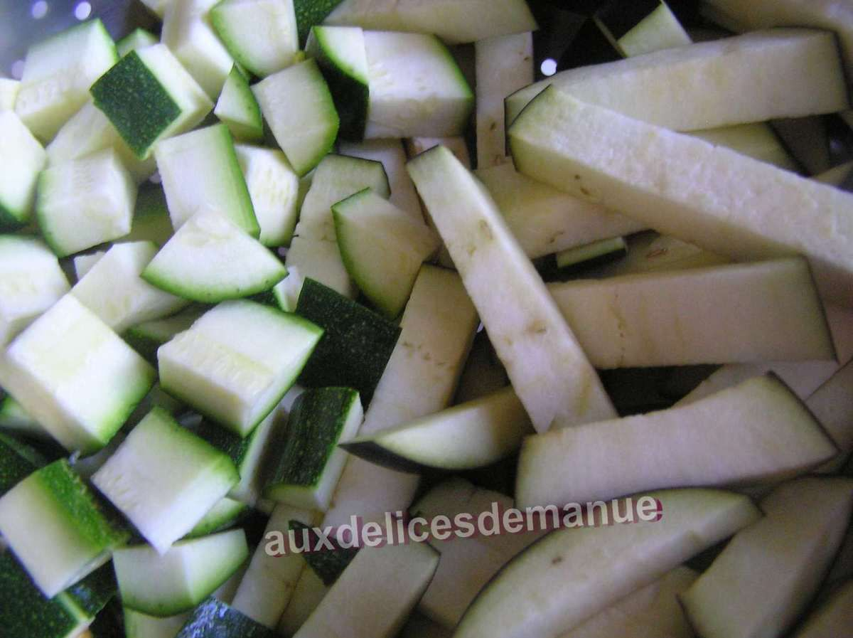 gratin de courgette et aubergine au jambon -light-