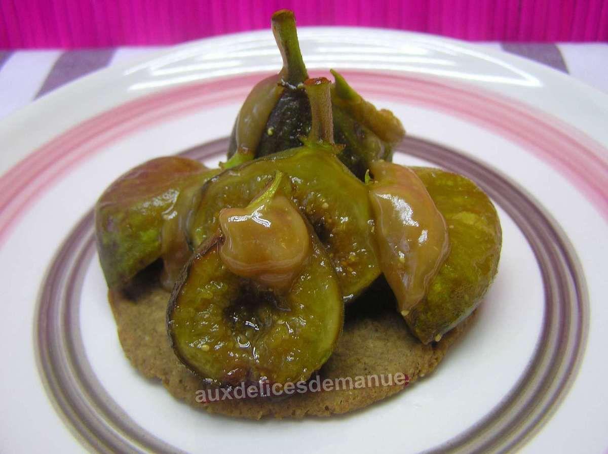 Figues r ties sur sp culoos et caramel au miel auxdelicesdemanue - Figues roties au miel ...