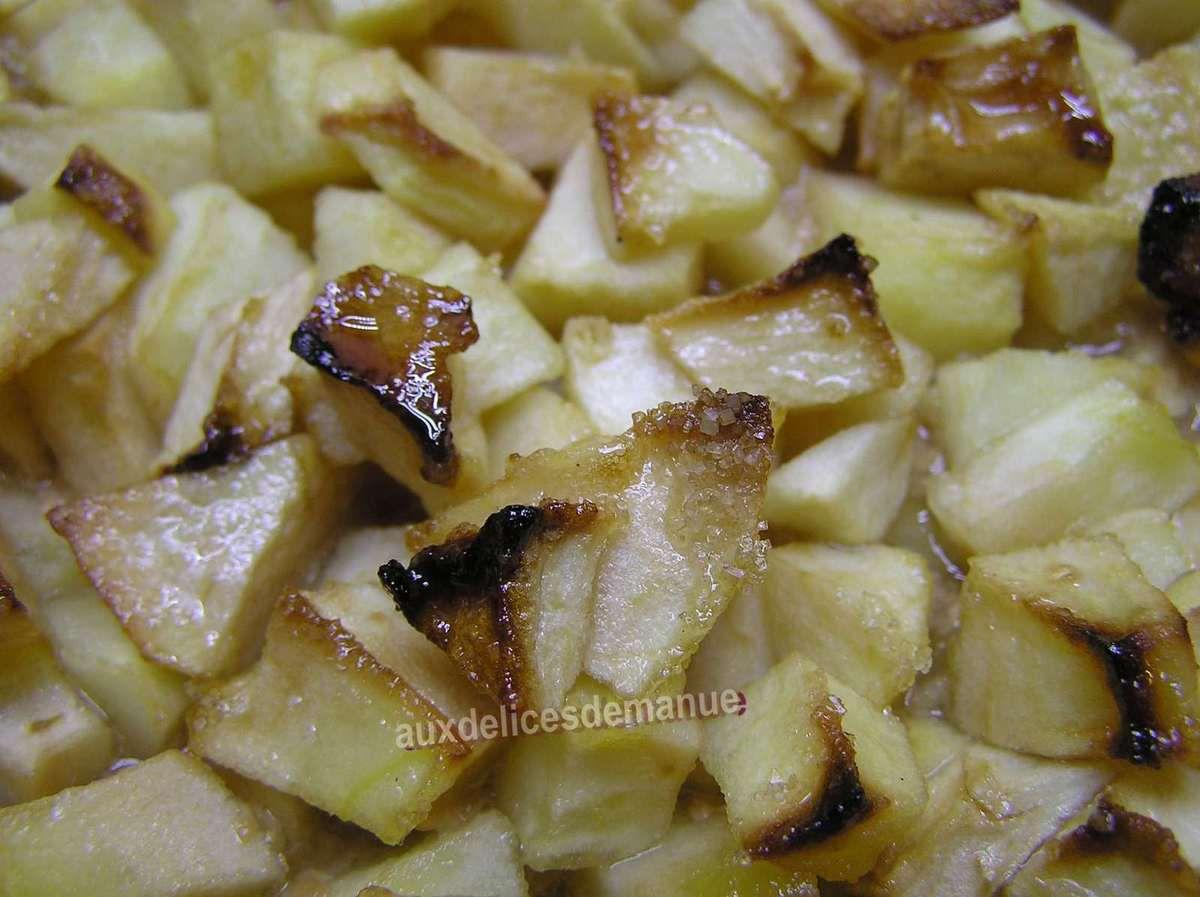 tarte caramel aux pommes