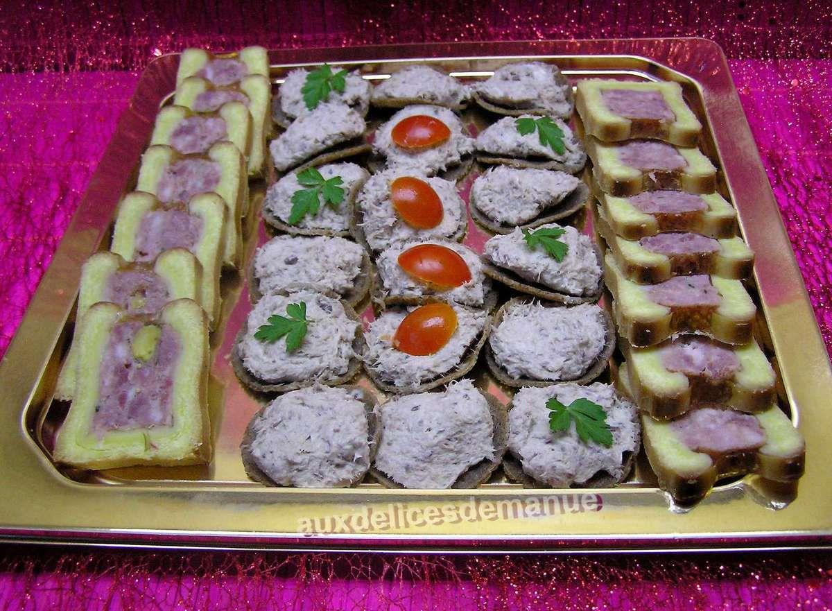 mini crêpes de sarrasin aux rillettes de sardines