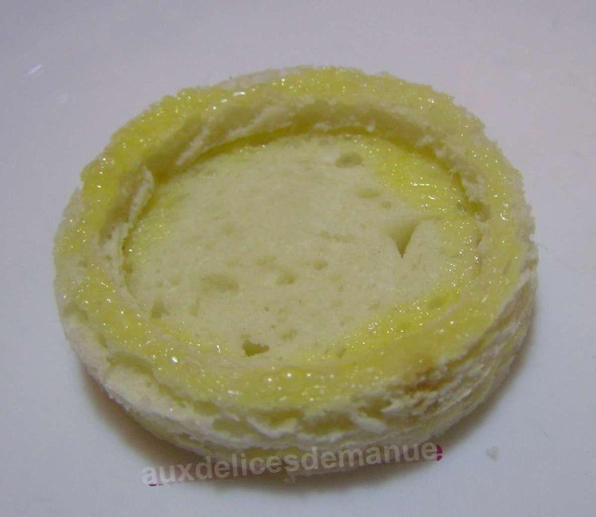 mini panier de pain de mie aux champignons