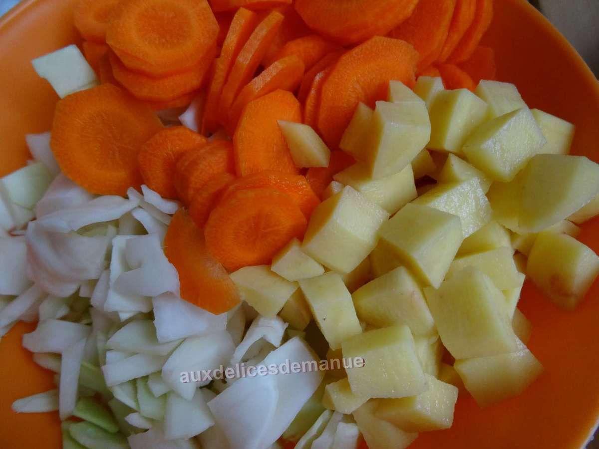 purée de chou blanc et carottes aux pommes de terre -LIGHT-