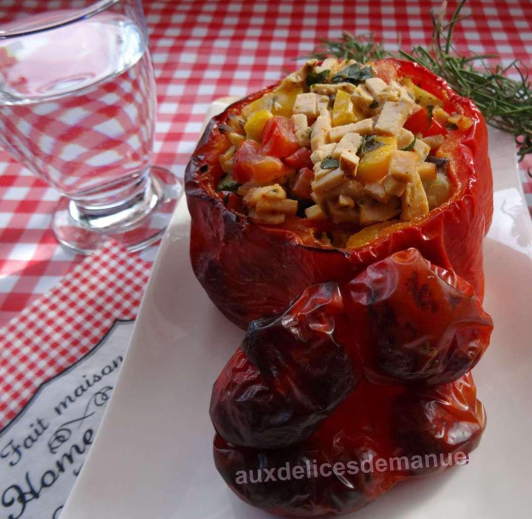 Poivron farci aux légumes du soleil et jambon de poulet -LIGHT-