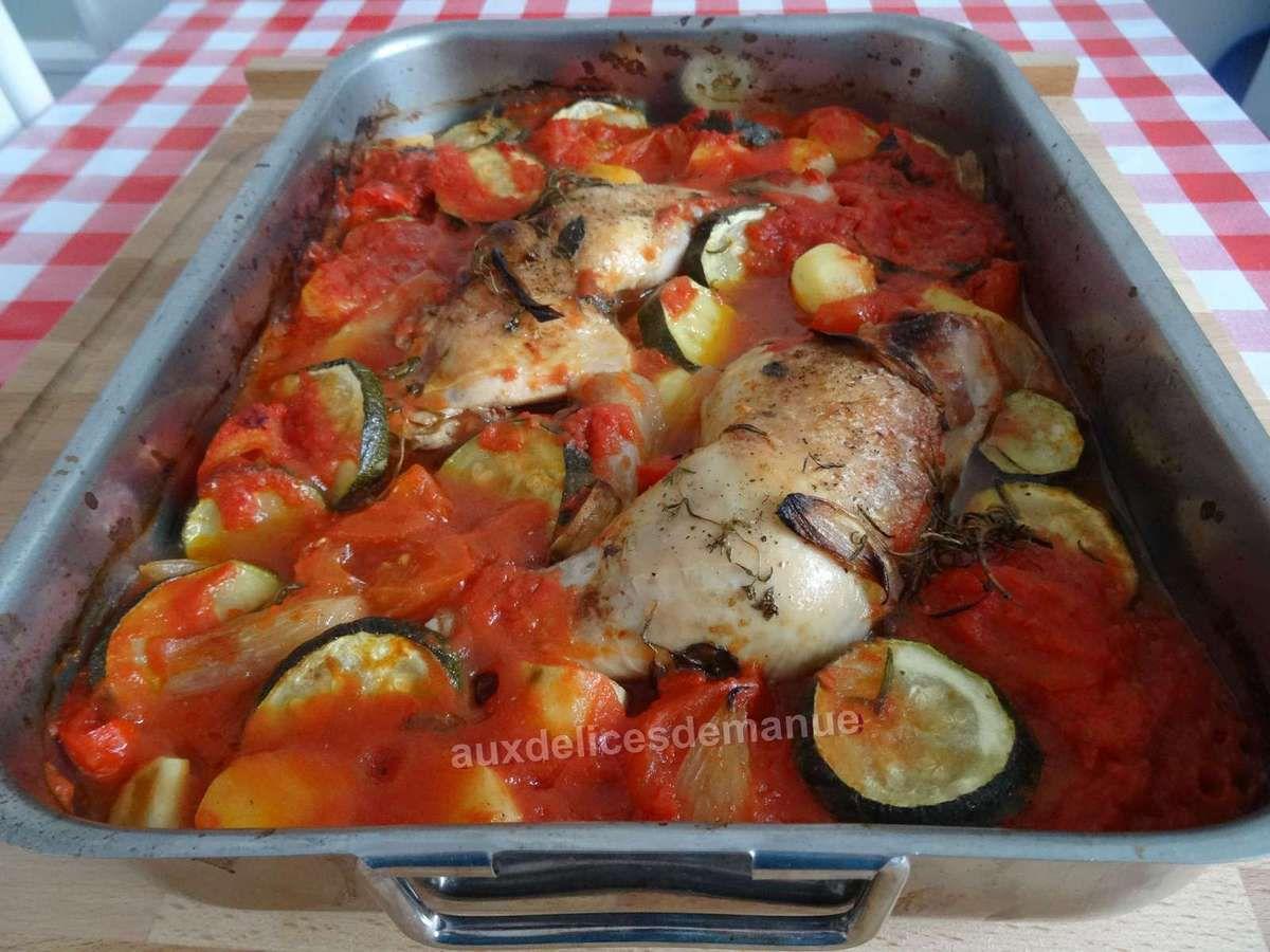 Favori Cuisses poulet et légumes en sauce au four - auxdelicesdemanue QR12