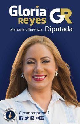 La aspiranta a diputada por la circunscripción 5, Gloria Reyes, junto al presidente en funciones ... - ob_0566b1_pgzon4sn