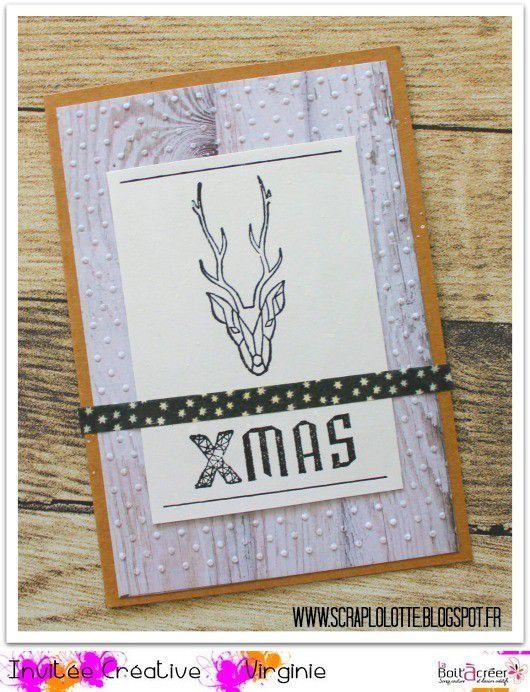 Focus : tampons Aladine et Florilèges Design, cartes de Noël par Lolotte