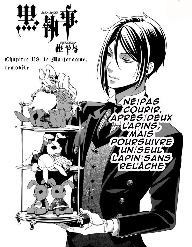 Black Butler / Kuroshitsuji : Chapitre 118 traduction Française