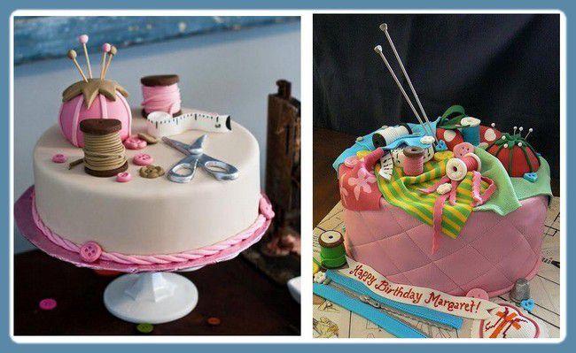 Gâteau et couture