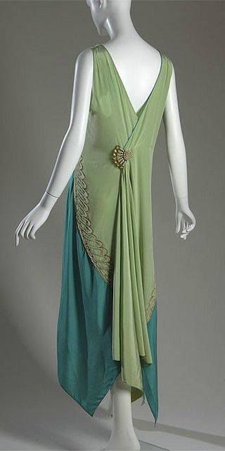1928 Callot Soeurs evening dress