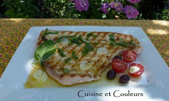 Recette de l'espadon grillé à la sauge frite &quot&#x3B;Ricetta del pesce spada &quot&#x3B;alla salvia fritta (nell'olio di oliva)&quot&#x3B; !