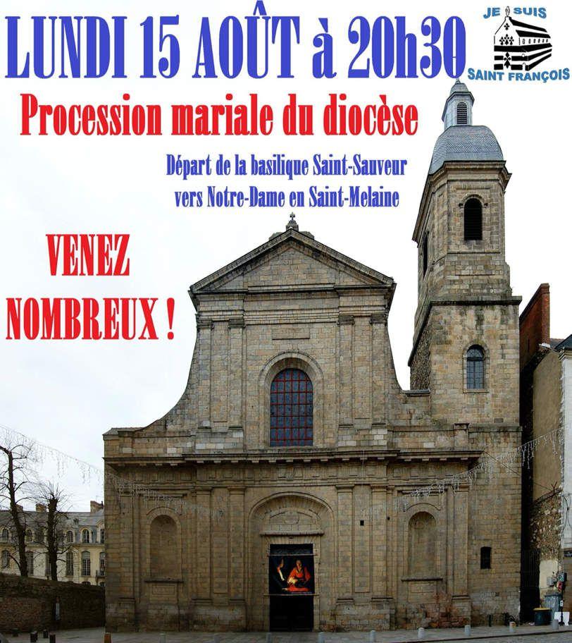 Procession de L'Assomption 15 août Rennes