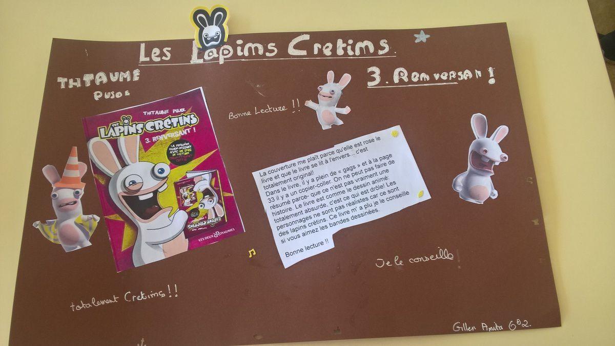 Voici les affiches des élèves pour les Coups de coeur....