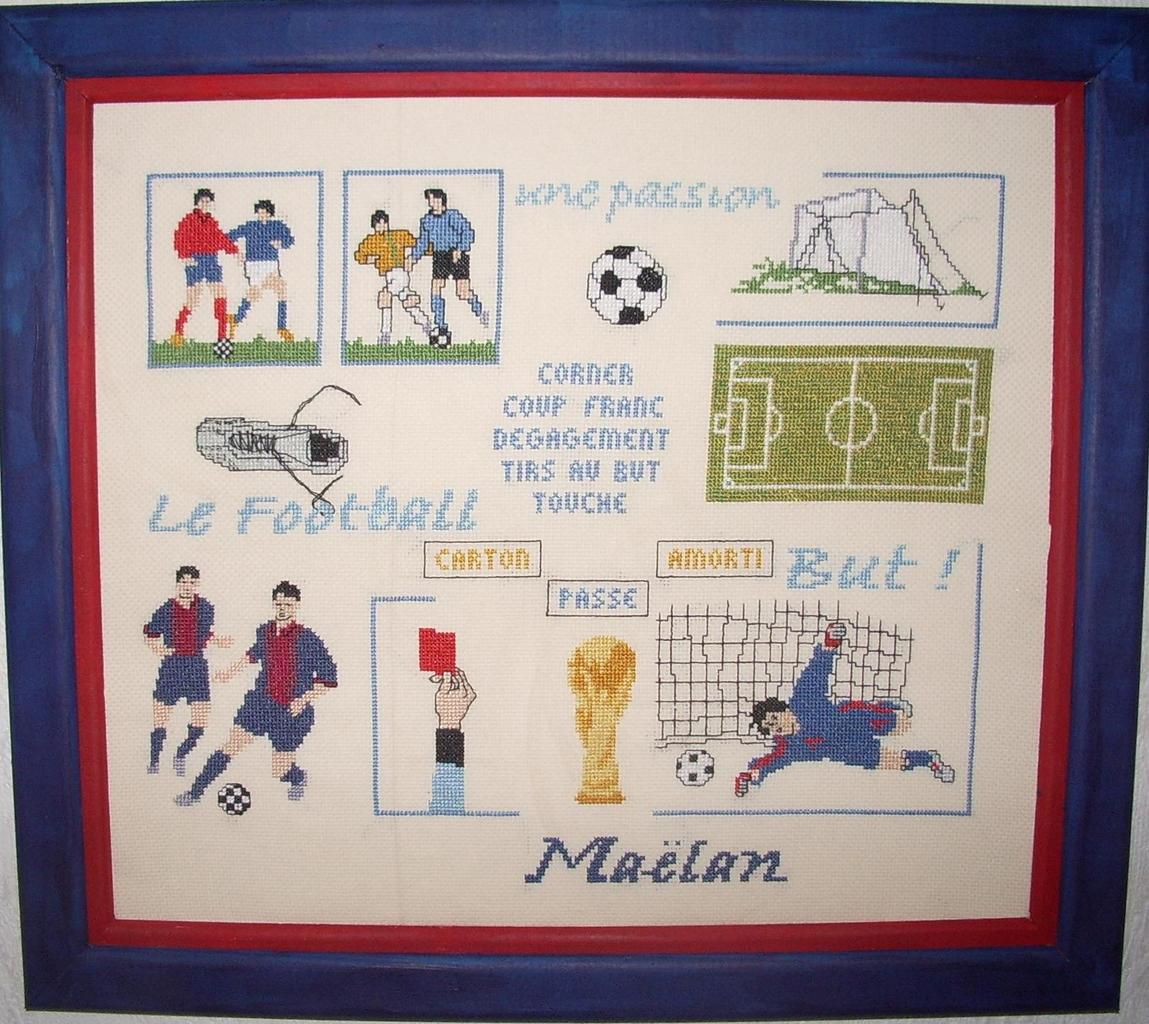 Broderie &quot&#x3B;Football&quot&#x3B; au point compté