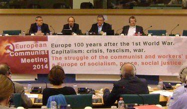 اللقاء الشيوعي الأوروبي: 2014 من أجل حركة شيوعية أوروبية قوية ضد الإتحادات الإمبريالية و من أجل إسقاط الرأسمالية
