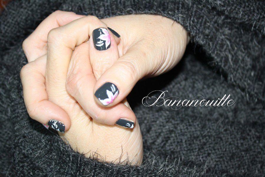 Nail Art sur pull angora!