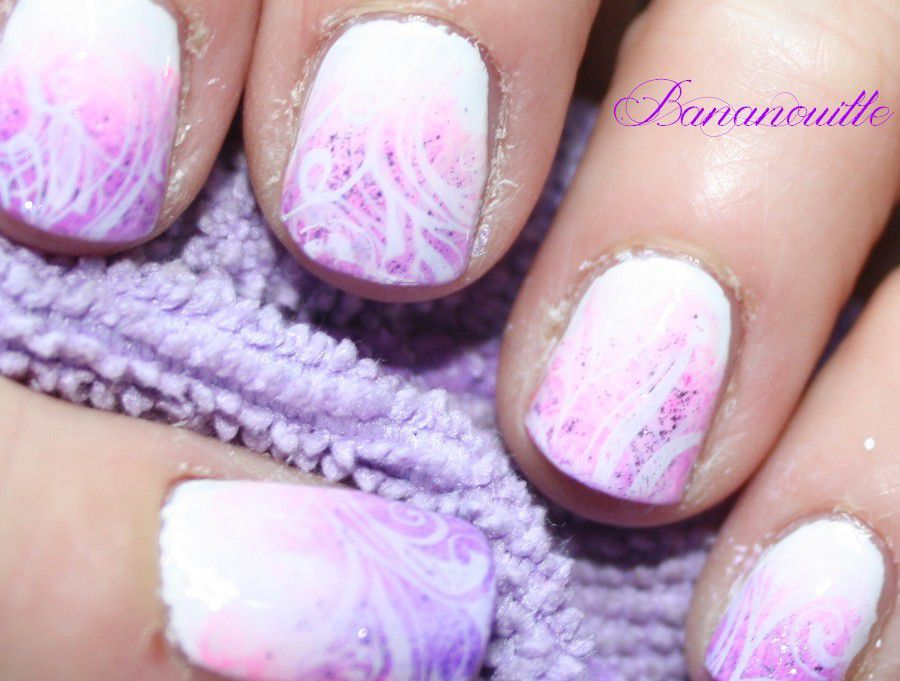Nail Art rose &quot&#x3B;girly&quot&#x3B; !