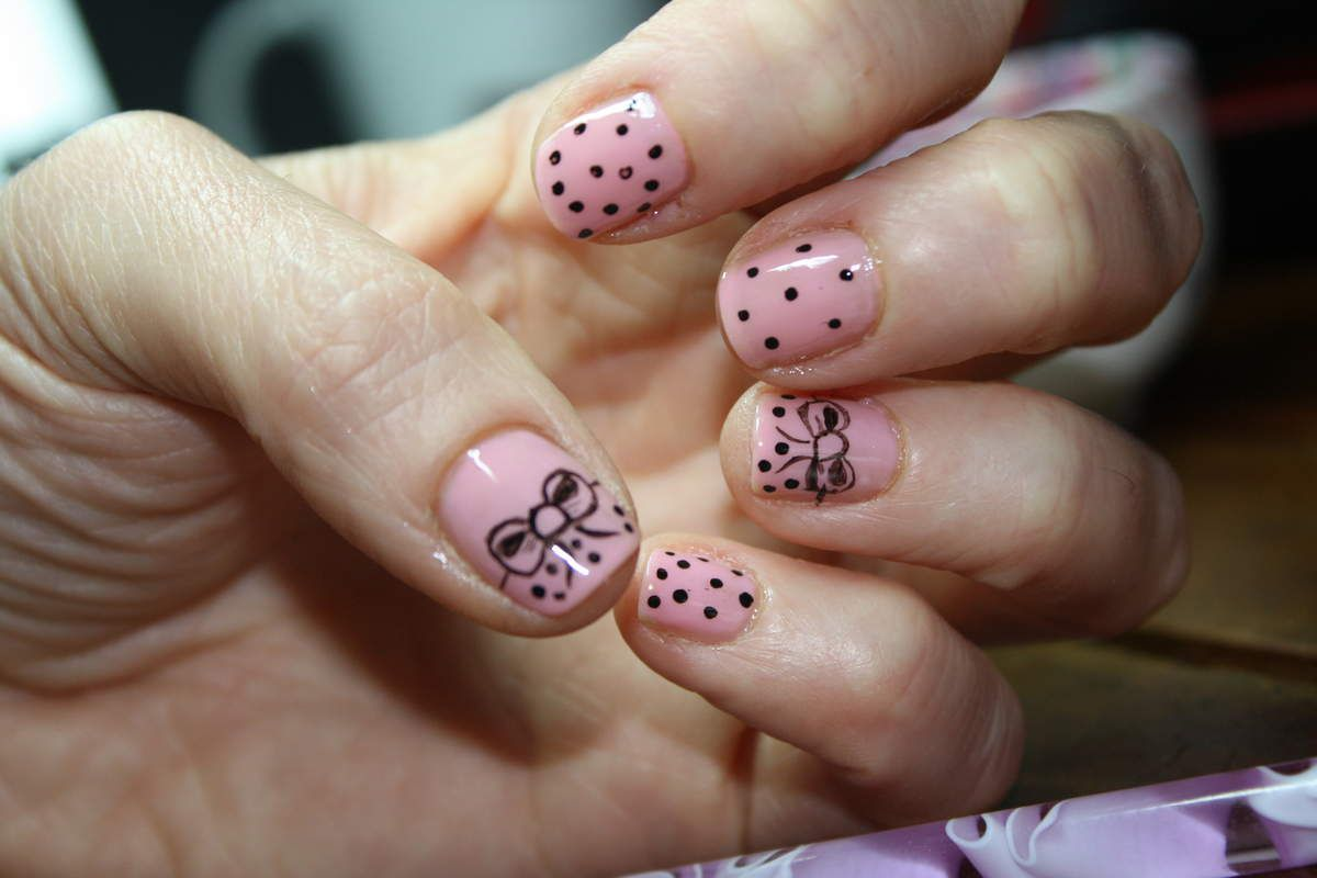 Nail Art &quot&#x3B;Noeuds Girly &quot&#x3B;