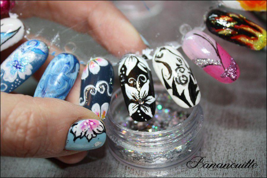 Nail Art &quot&#x3B;Fleurs de nuit&quot&#x3B;