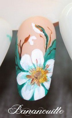 Nail Art &quot&#x3B;marguerite&quot&#x3B;