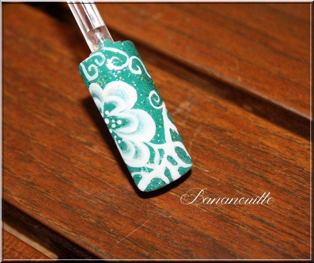 Nail Art &quot&#x3B; fleur espérance&quot&#x3B;