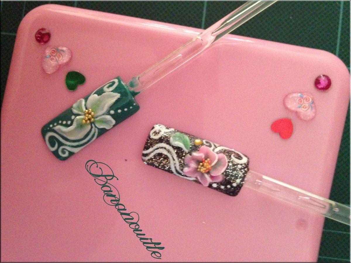 Nail Art &quot&#x3B;Fleurs 3 D&quot&#x3B; avec un nouveau monomer !
