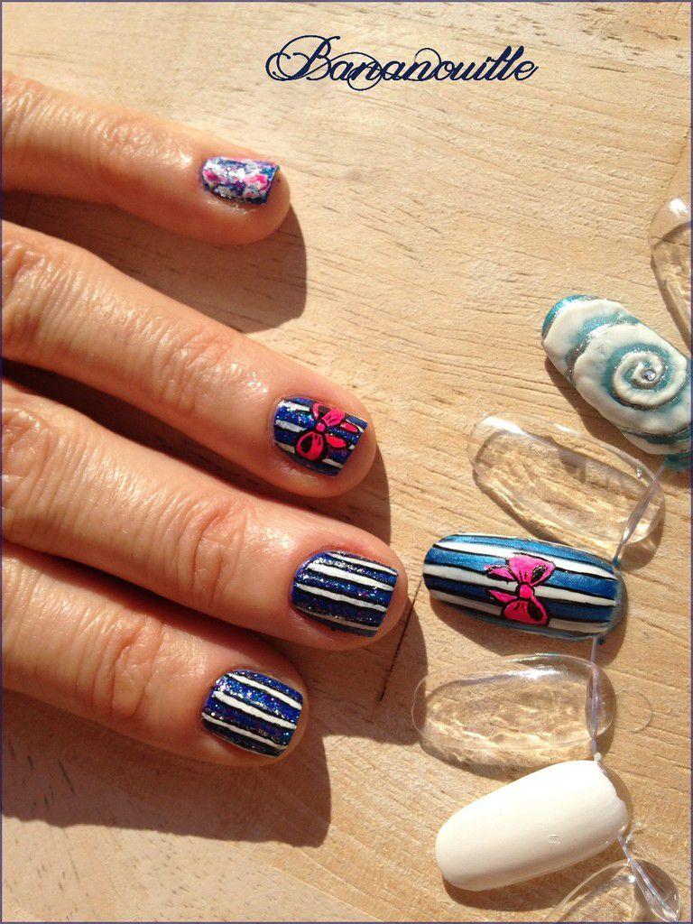 Nail Art &quot&#x3B;noeud rose&quot&#x3B;