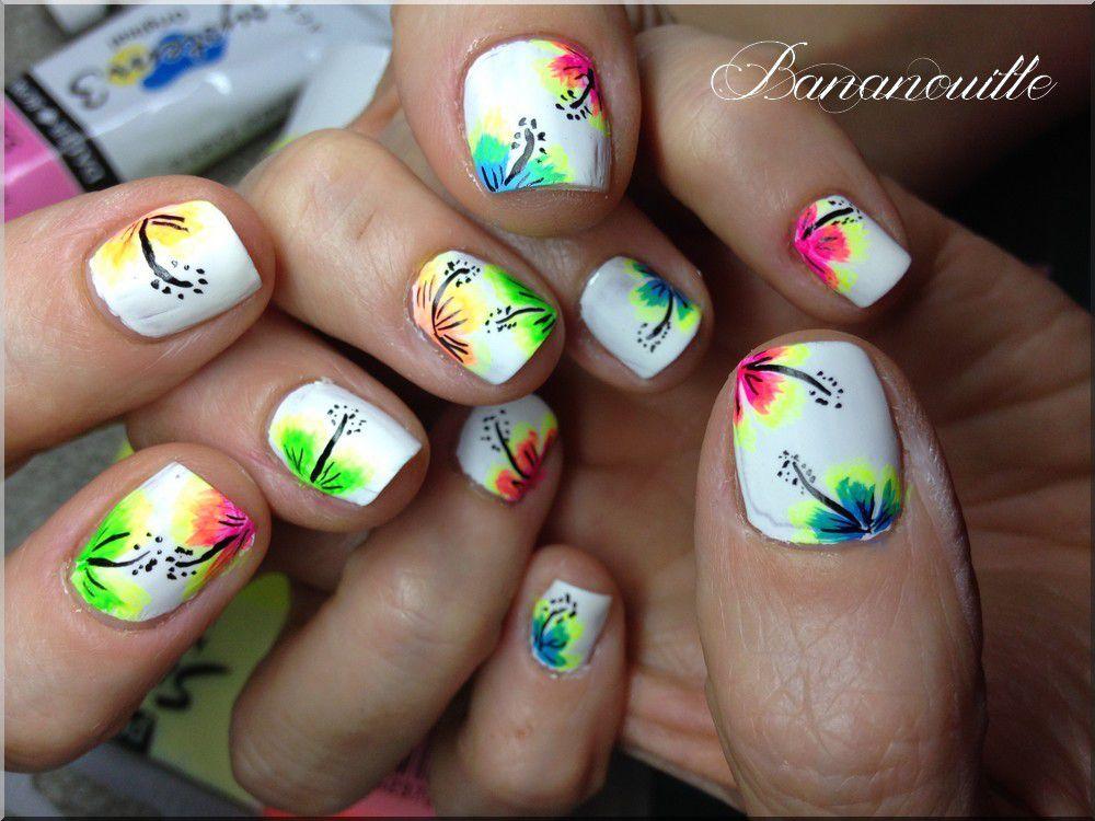 Nail Art &quot&#x3B; hibiscus&quot&#x3B;