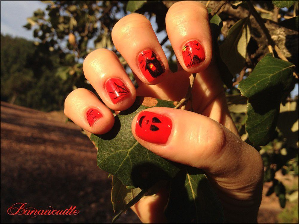 Nail Art &quot&#x3B; d'Halloween&quot&#x3B;