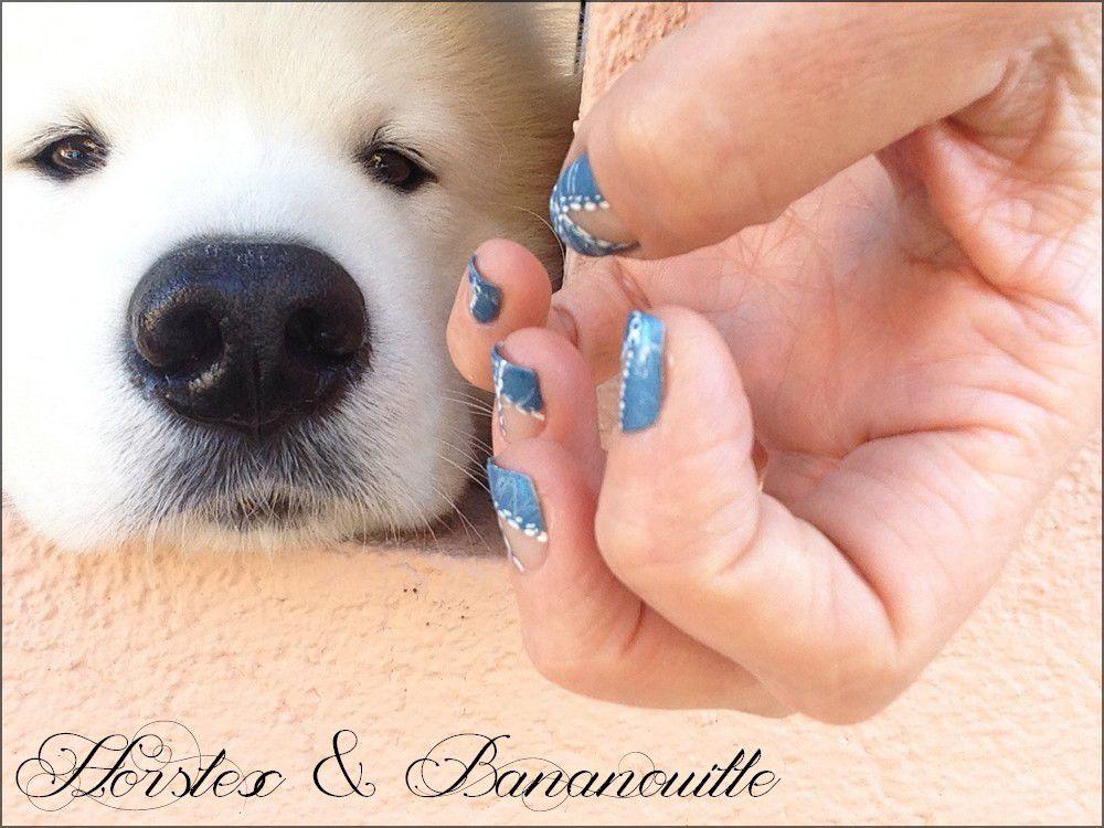 Nail Art &quot&#x3B;blue jean&quot&#x3B;