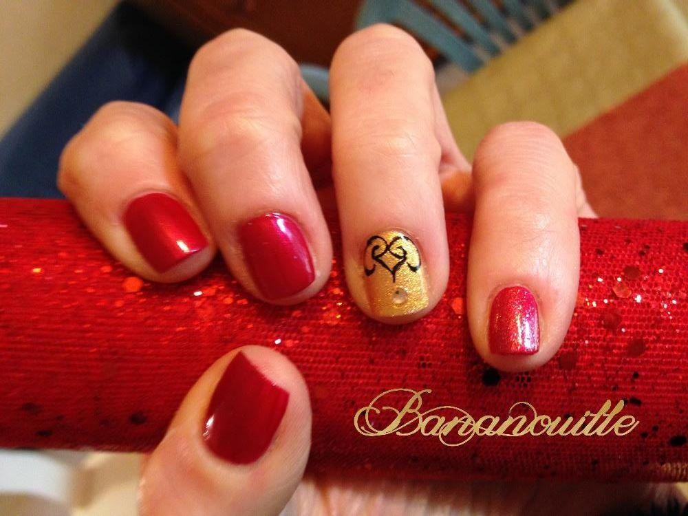 Nail Art &quot&#x3B; Noël rouge&quot&#x3B;