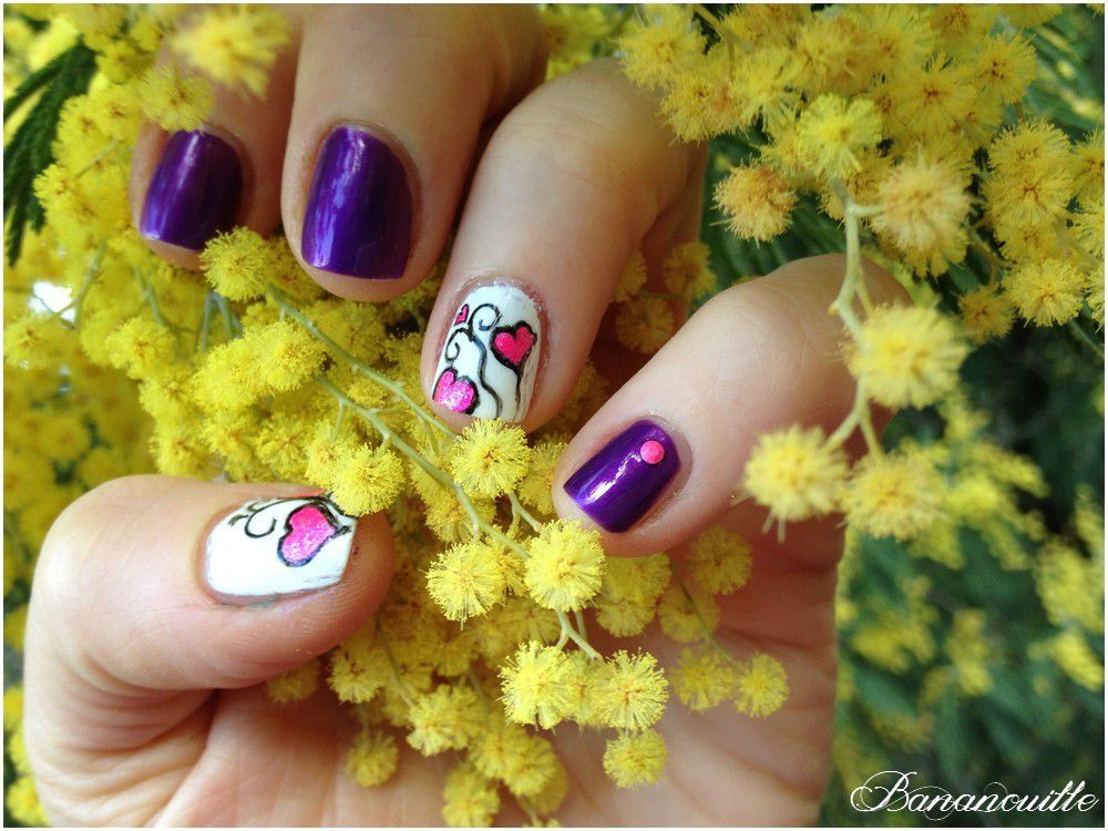 Nail Art &quot&#x3B;St Valentin &quot&#x3B;