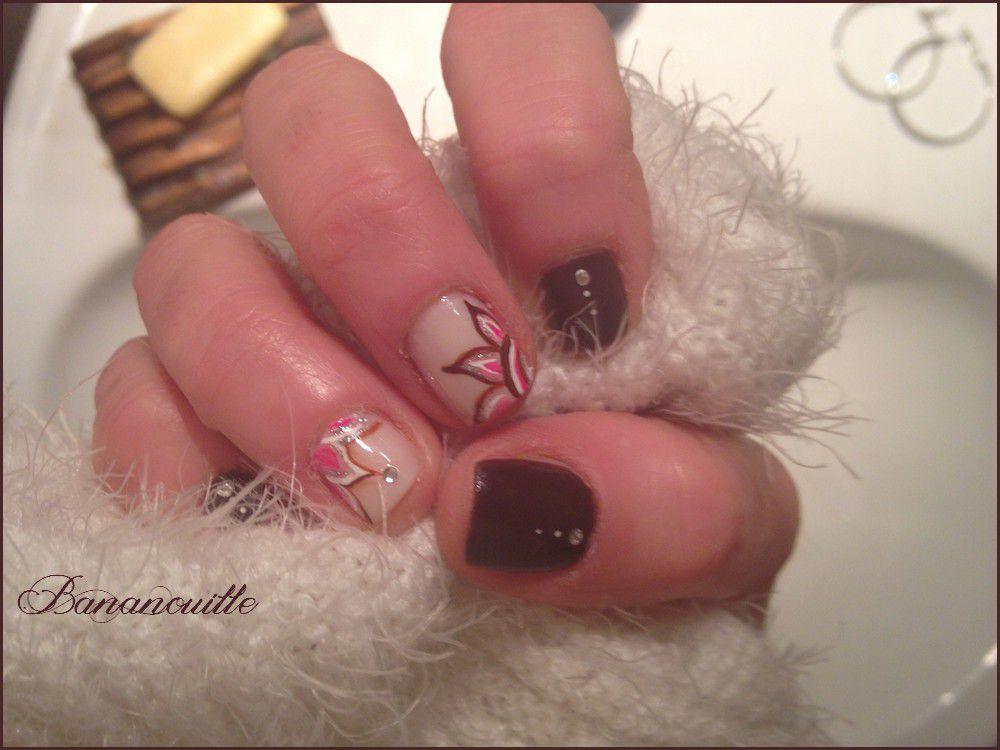 Nail Art &quot&#x3B;improvisation du weekend&quot&#x3B;