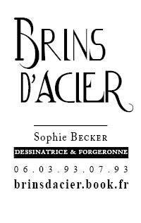 Etagère en acier - Sophie Becker - Brins d' Acier
