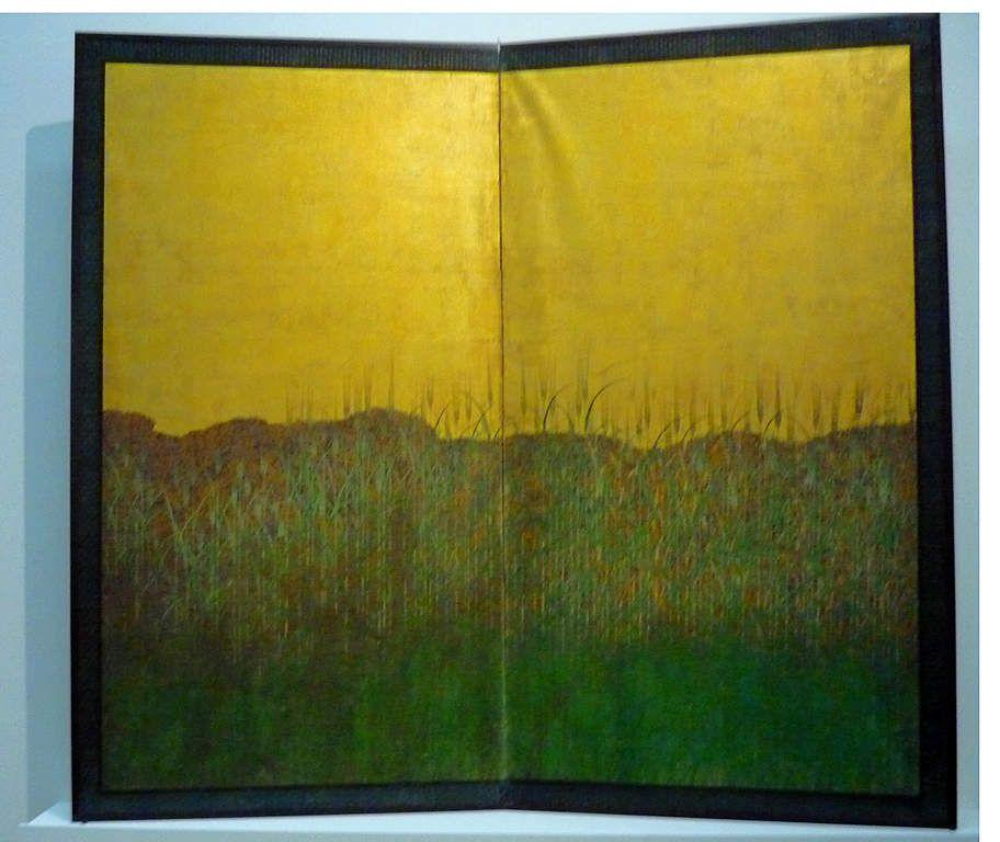 Paravent : Byoubu. Japanischer Wandschirm mit dem Motiv Getreide von der Ernte (Bakushu), XVIIIe siècle