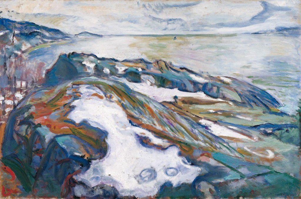 Emil Nolde, Moonlit Night, 1914 ; Edvard Munch, Winter Landscape, 1915 ; Oskar Kokoschka, London, Small Thames Landscape, 1926 © Internet