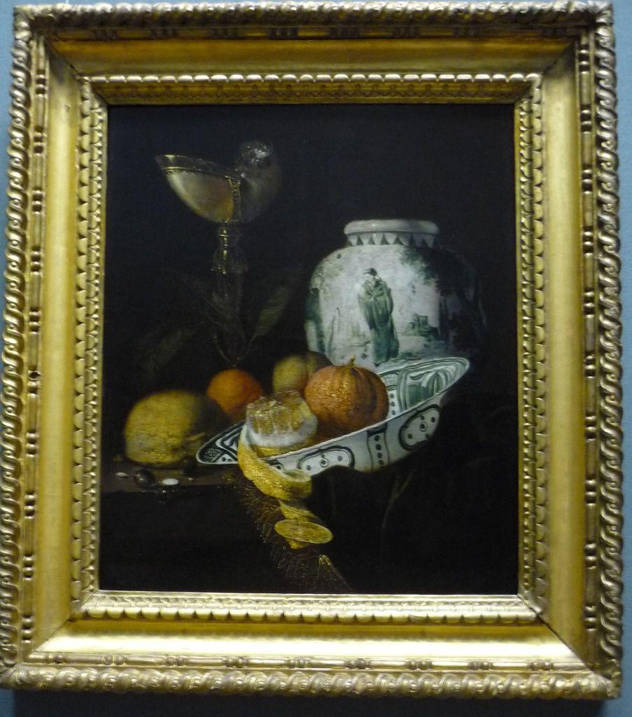 Juriaen van Streeck (1632-1687), Stillleben mit Nautilusbecher und Ingwertopf