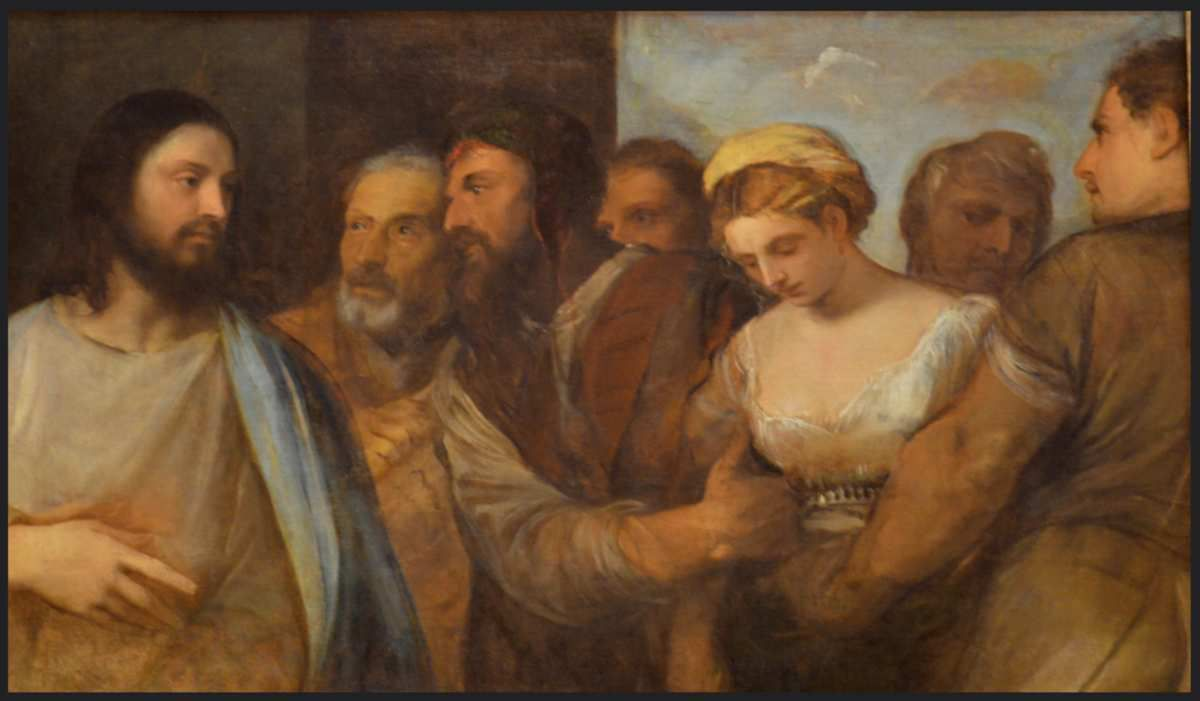 Christ and the Adulteress, c. 1512-1515 ; Lucrecia and Her Husband, c. 1515 © Internet