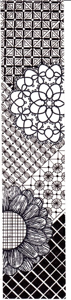 Marque-page Zentangle