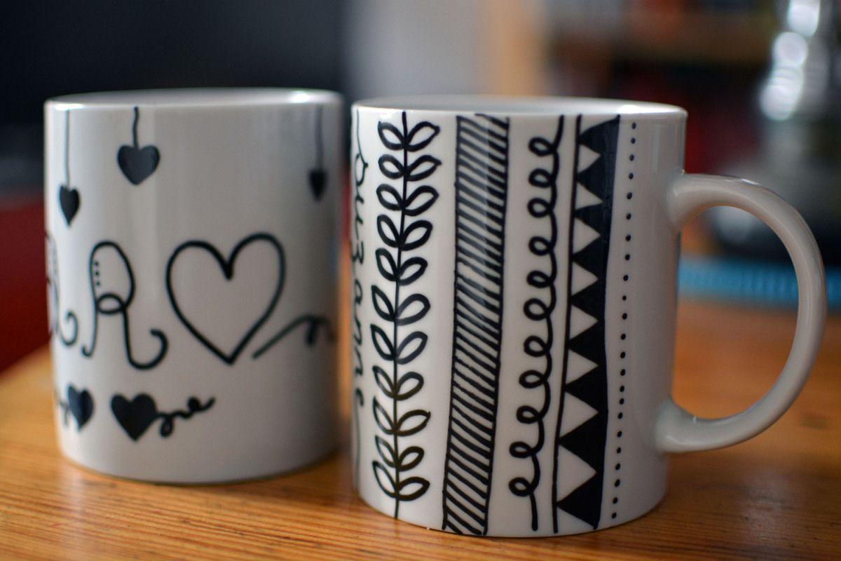 Mug : 0.99€ - Marabu Porcelain painter : 4.49€ - Cultura
